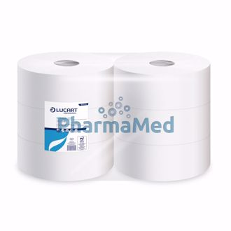 Image de Papier toilettejumbo 2 plis 100% cellulose 1458 coupons 350m