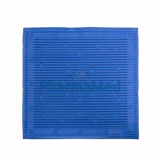 Image de Tapis de douche antidérapant 50.8x50.8cm - Bleu