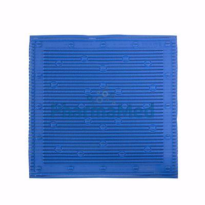 Image sur Tapis de douche antidérapant 50.8x50.8cm - Bleu