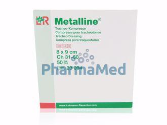 Image de Compresses trachéotomie - NT ST métalline - 8x9cm - 50pc