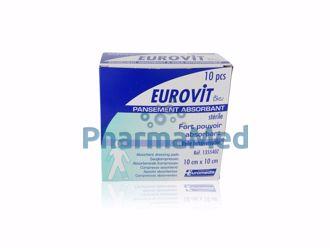 Image de Compresses absorbantes plastifiées stériles - EUROVIT - 10