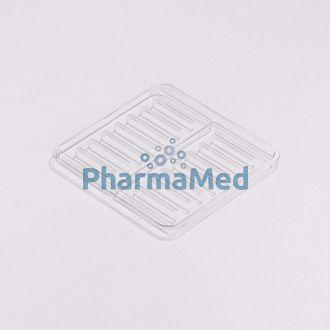 Image de Plateau MEDI7 transp.SCHWARZ 16réglettes(1pc)