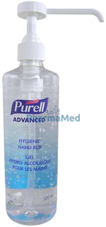 Image de PURELL gel hydroalcoolique + pompe - 500ml