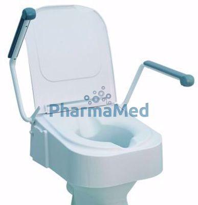 Image sur Rehausse WC + accoudoirs ht réglable....(1pc)