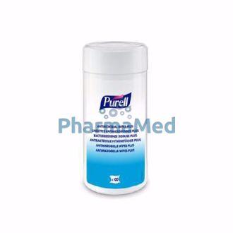 Image de PURELL lingettes antimicrobiennes Plus - 100pc