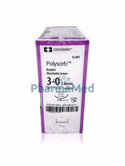Image de POLYSORB 3/0 SL-693 C-14 75cm incol. (36fils)