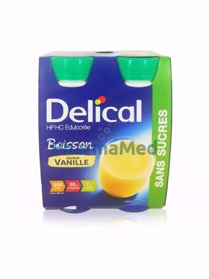 Image sur Delical HP/HC - Sans Sucres - Vanille - 4x200ml