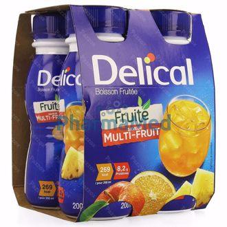 Image de Delical Boisson fruitée Multi-fruits - 4x200ml