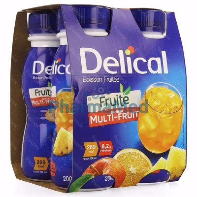 Image sur Delical Boisson fruitée Multi-fruits - 4x200ml