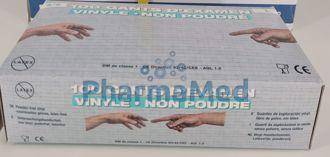 Image de Gants vinyl CA non poudrés (100pc)
